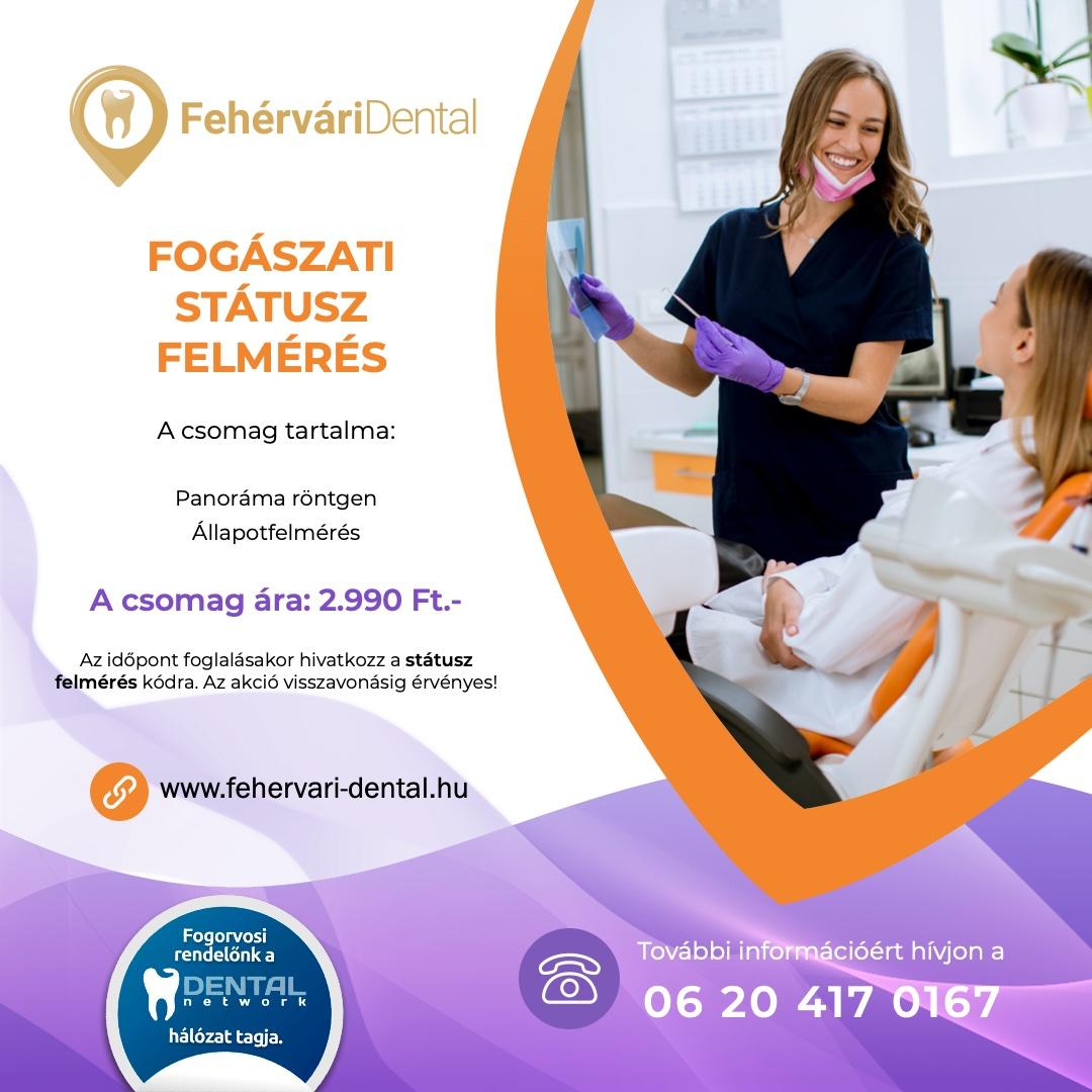 Fehérvári Dental fogorvos - Státusz felmérés akció