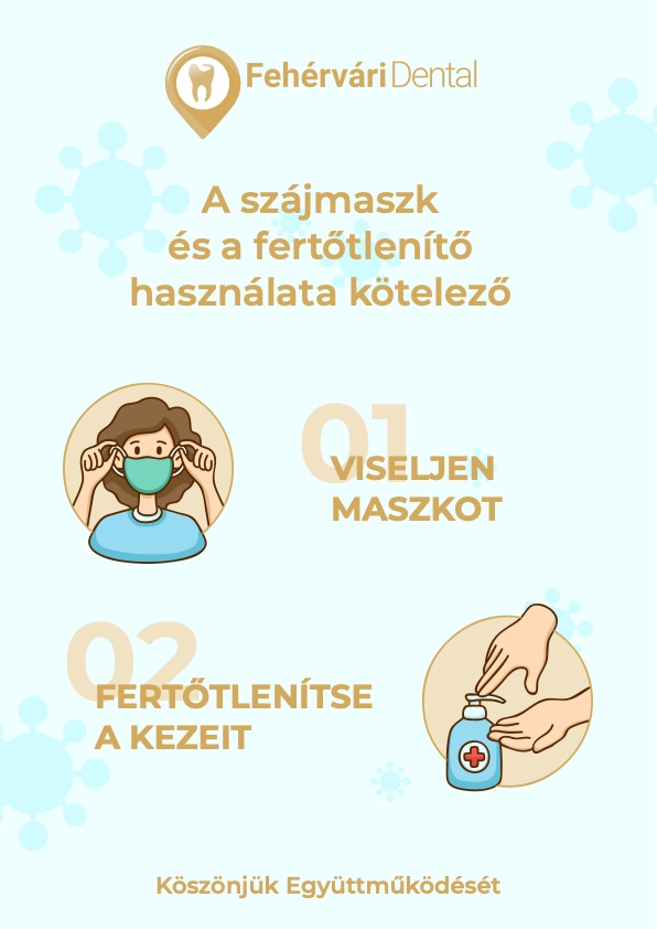 Fehérvári Dental Fogászat - A szájmaszk és a fertőtlenítő használata kötelező!